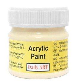 Daily Art acrylic paint jar 50 ml Cream