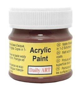 Daily Art acrylic paint jar 50 ml Chocolate
