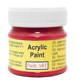 Daily Art acrylic paint jar 50 ml Red