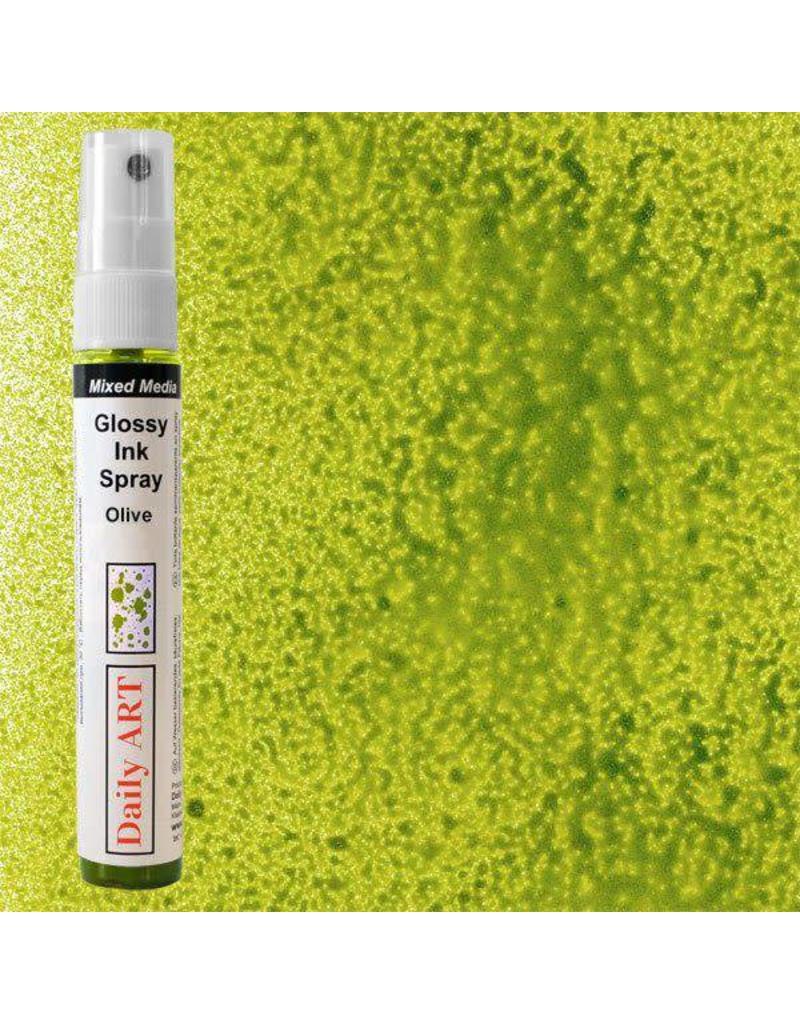 Daily Art Mixed Media Glossy Ink Spray bottle 30 ml Olive