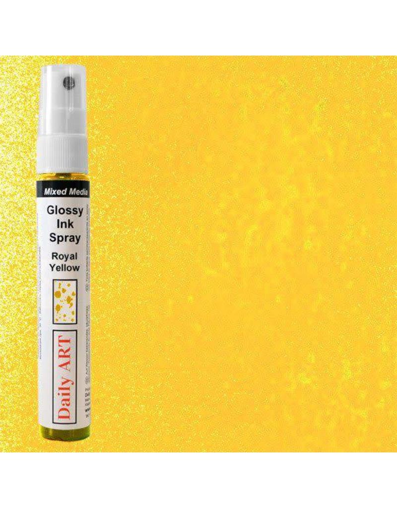 Daily Art Mixed Media Glossy Ink Spray bottle 30 ml Royal Yellow