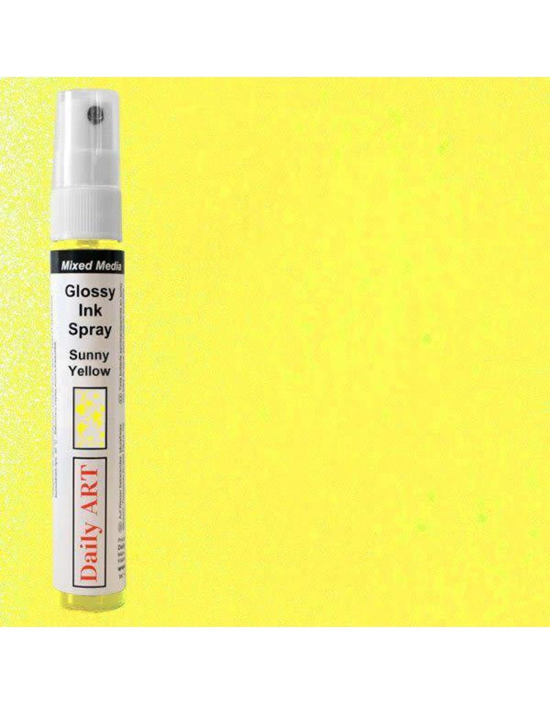 Daily Art Mixed Media Glossy Ink Spray bottle 30 ml Sunny Yellow
