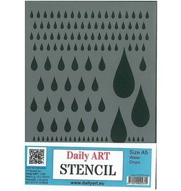 Daily art mask stencil Water drops A5