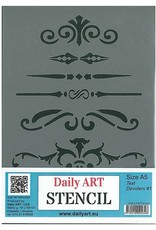 daily art Daily Art mask stencil Text Deviders #1 A5