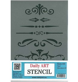Daily Art mask stencil Text Deviders #1 A5