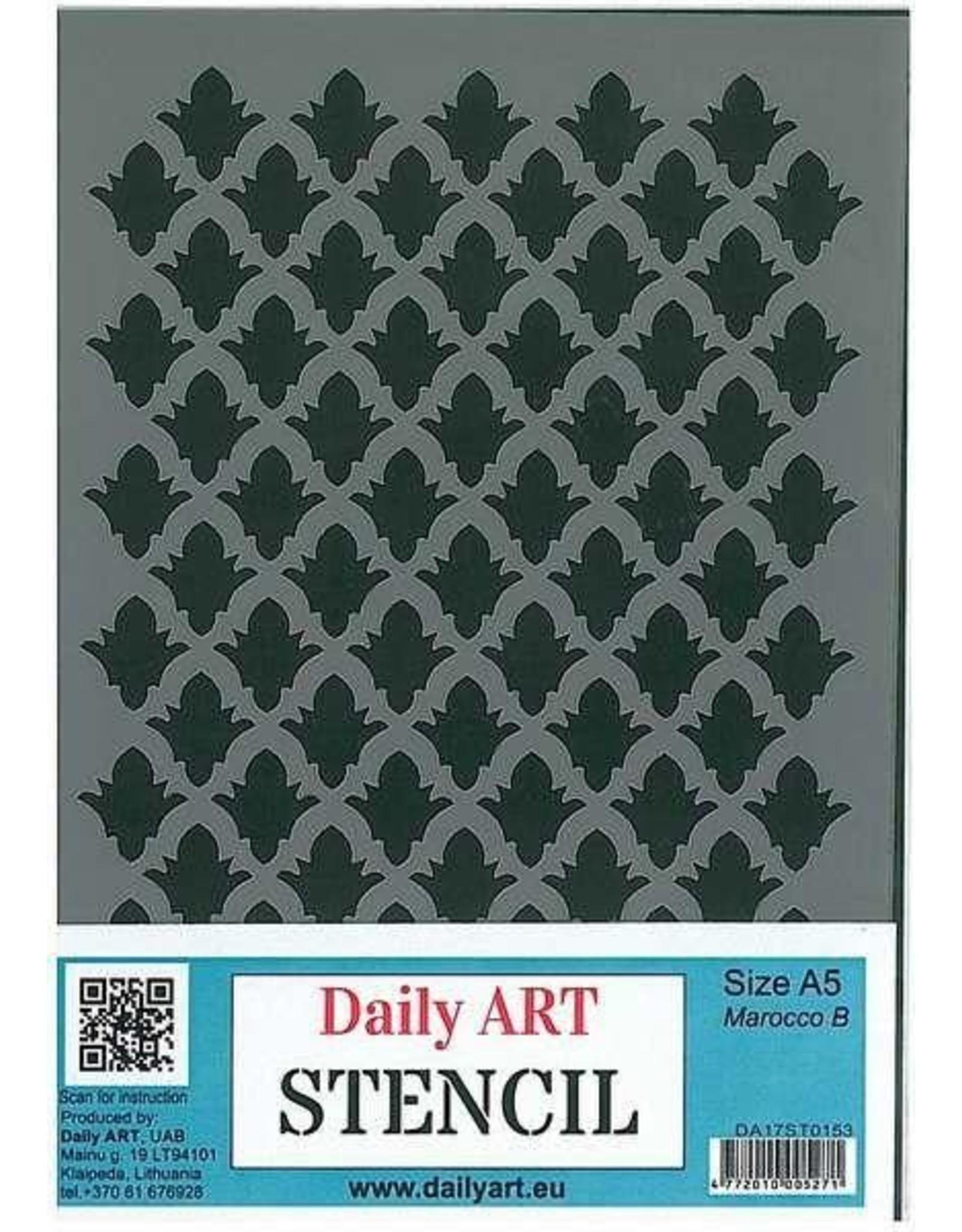 daily art Daily Art mask stencil Marocco B A5