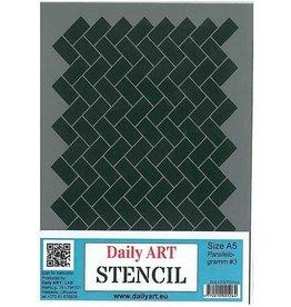 Daily Art mask stencil Parallelogram #3 A5