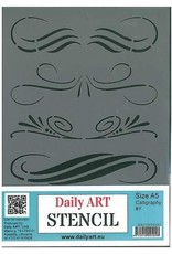 daily art Daily Art mask stencil Calligraphy #1 A5