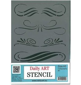Daily Art mask stencil Calligraphy #1 A5