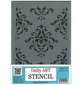 daily art Daily Art mask stencil Damask #2 A5