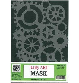 daily art Daily Art mask stencil Mask Gears #1 A5