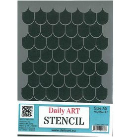 Daily Art mask stencil Rooftile #1 A5