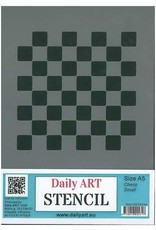 daily art Daily Art mask stencil Chess small A5