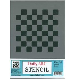 Daily Art mask stencil Chess small A5