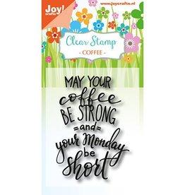 Joy Craft Joy Crafts stempel Coffee txt- Monday 6410/0469
