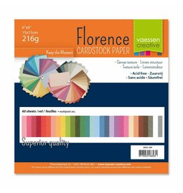 "Florence Florence cardstock 216g 6x6"" x60 multipack ass."