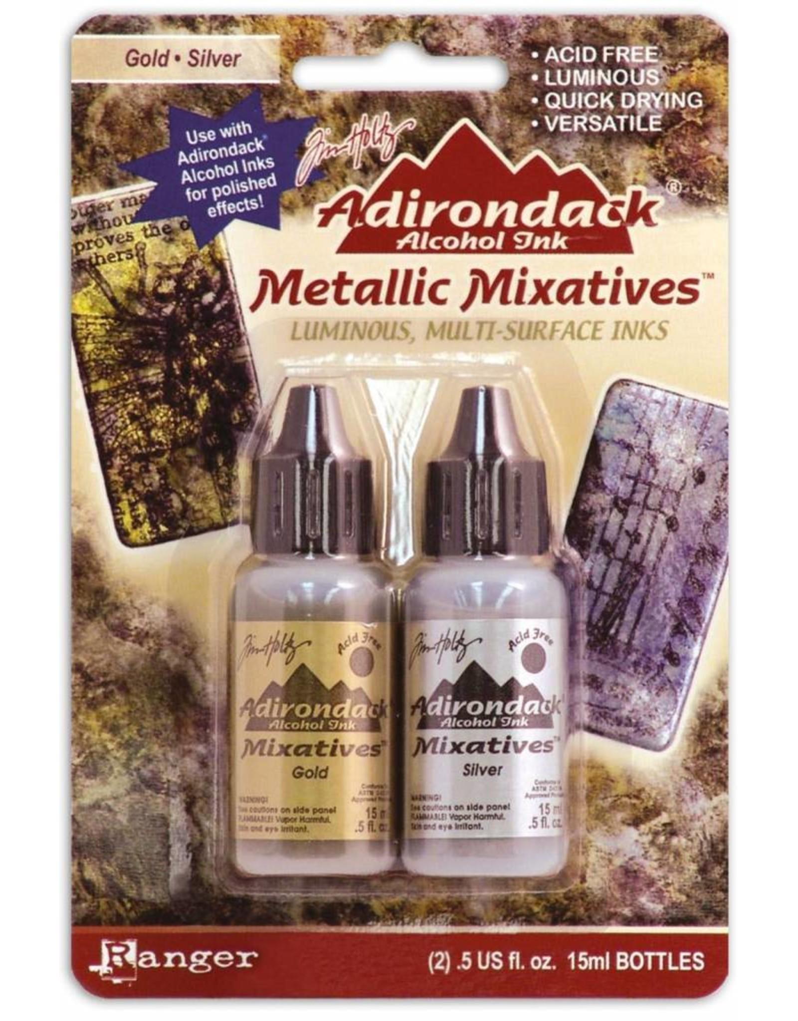 Adirondack Adirondack metallic alcohol mixative kit gold silver*