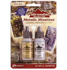Adirondack Adirondack metallic alcohol mixative kit gold silver*