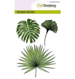 CraftEmotions clearstamps A6 - tropische bladeren