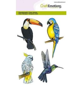 Craft Emotions CraftEmotions clearstamps A6 - tropische vogels