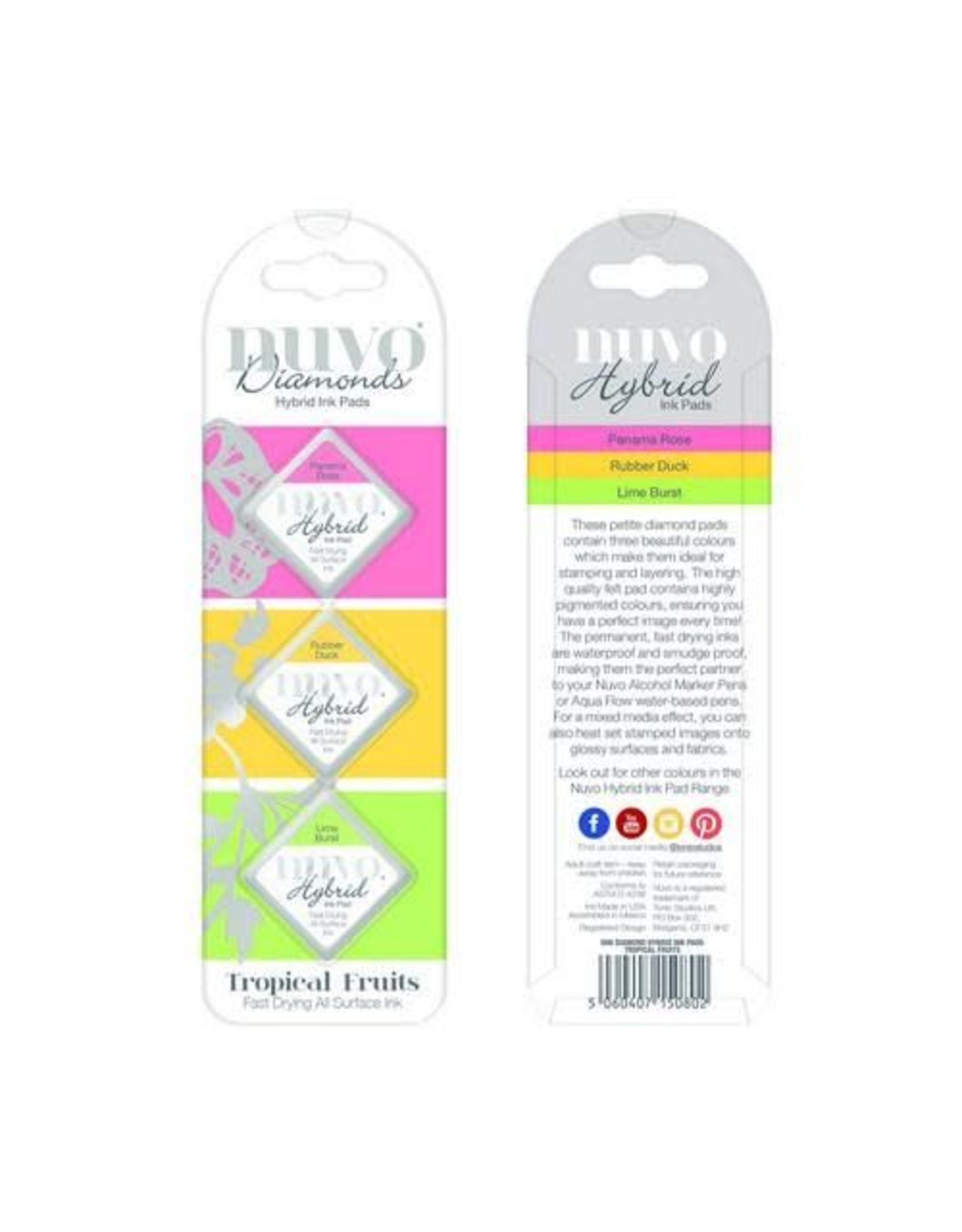 Nuvo ink pads Nuvo Diamond hybrid ink pads - tropical fruits 80N