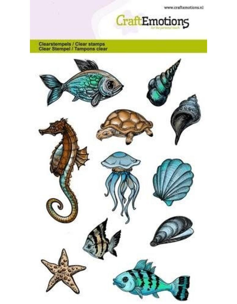 CraftEmotions clearstamps A6 - zeedieren