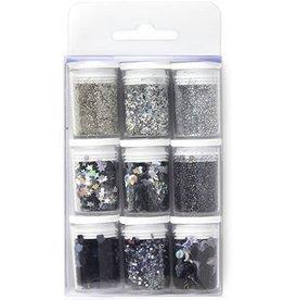 Glitter Set Silver, assorted