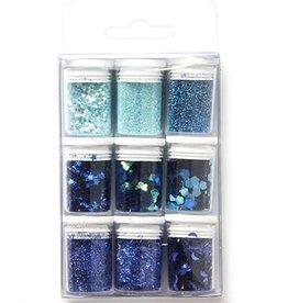 Glitter Set Blue, assorted
