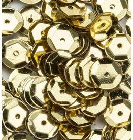 Pailletten facon metal goudkleur 6 mm 12 GR 12212-1202