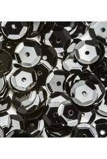 Pailletten facon metal zwart 6 mm 12 GR