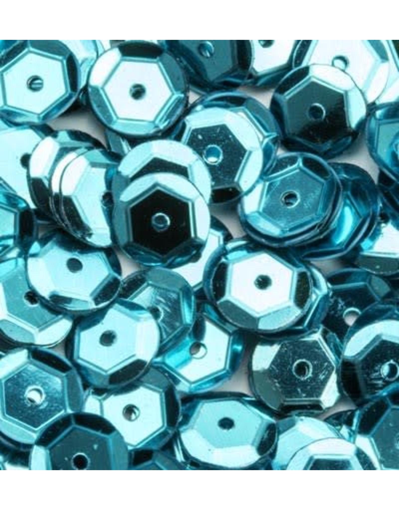 Pailletten facon metal turkoois 6 mm 12 GR