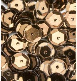 Pailletten facon metal bruin 6 mm 12 GR