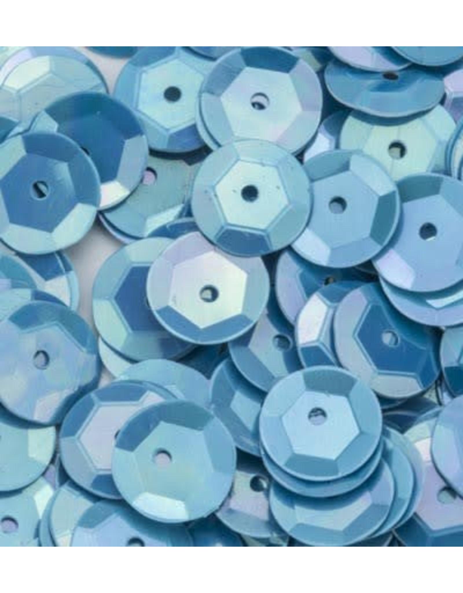 Pailletten facon AB kleur baby blauw 6 mm 10 GR