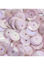 Pailletten facon AB kleur baby roze 6 mm 10 GR