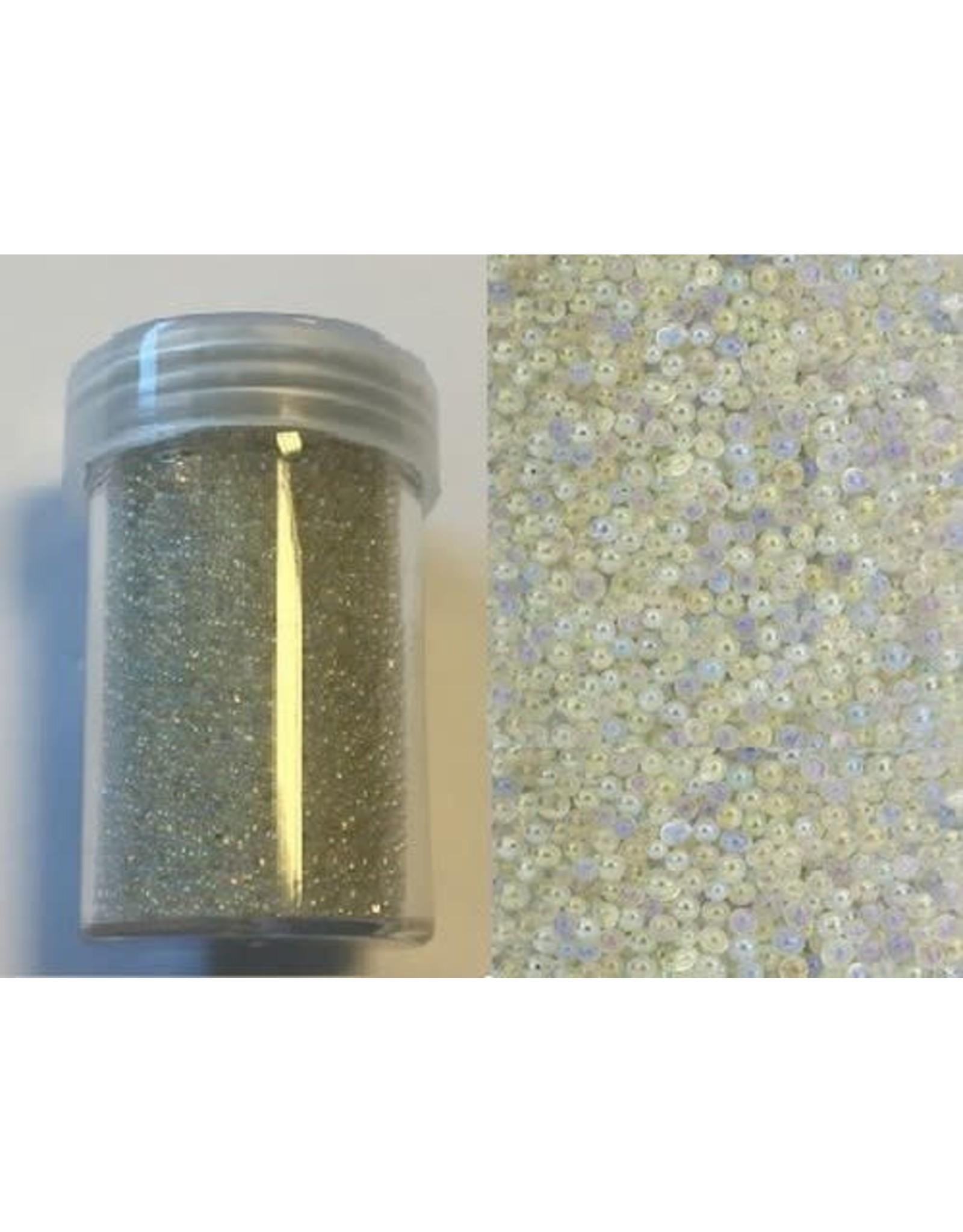 Mini pearls (zonder gat) 0,8-1,0mm wit 22 gram