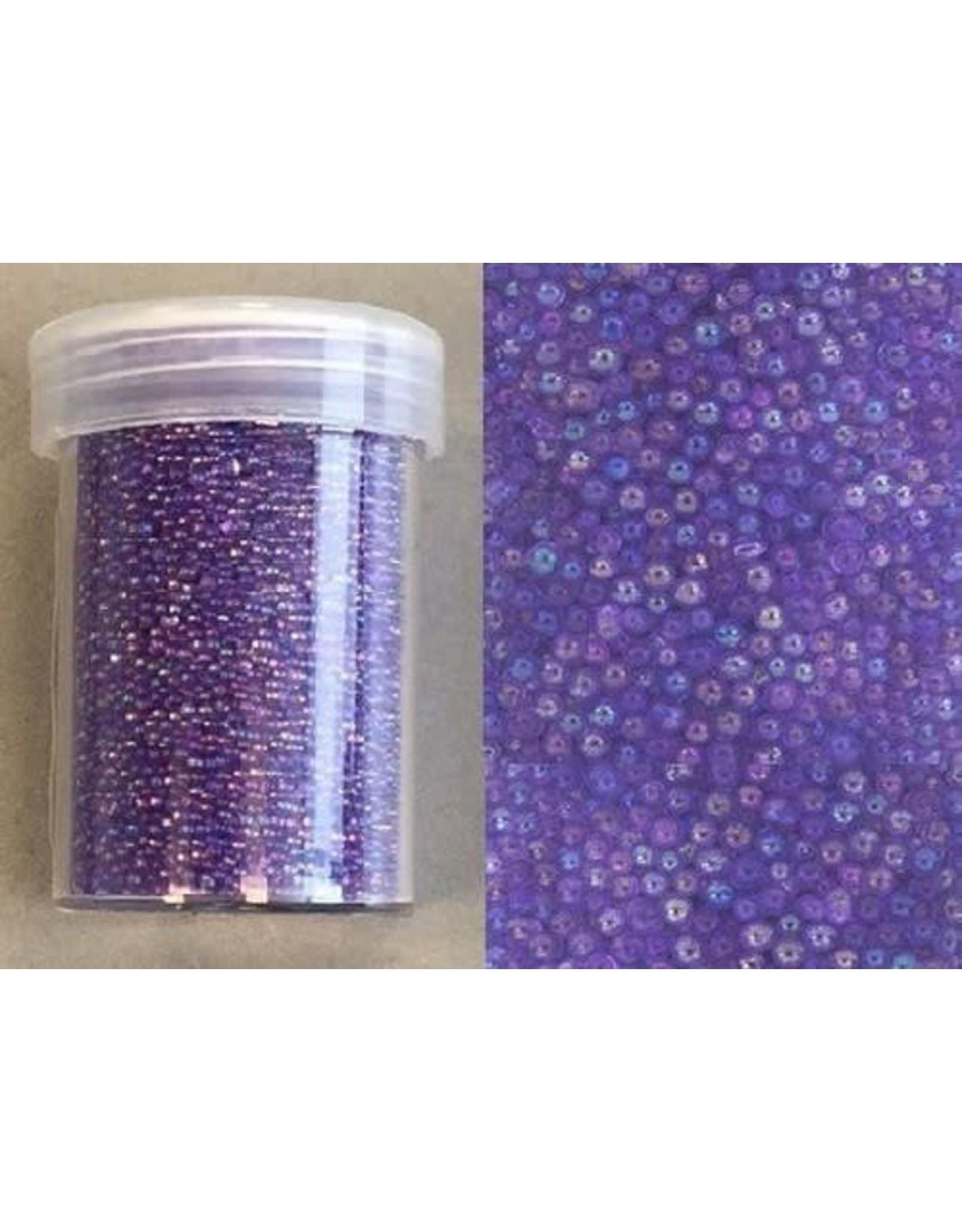 Mini pearls (zonder gat) 0,8-1,0mm regenboog paars 22 gram