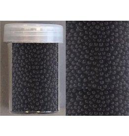 Mini pearls (zonder gat) 0,8-1,0mm zwart 22 gram
