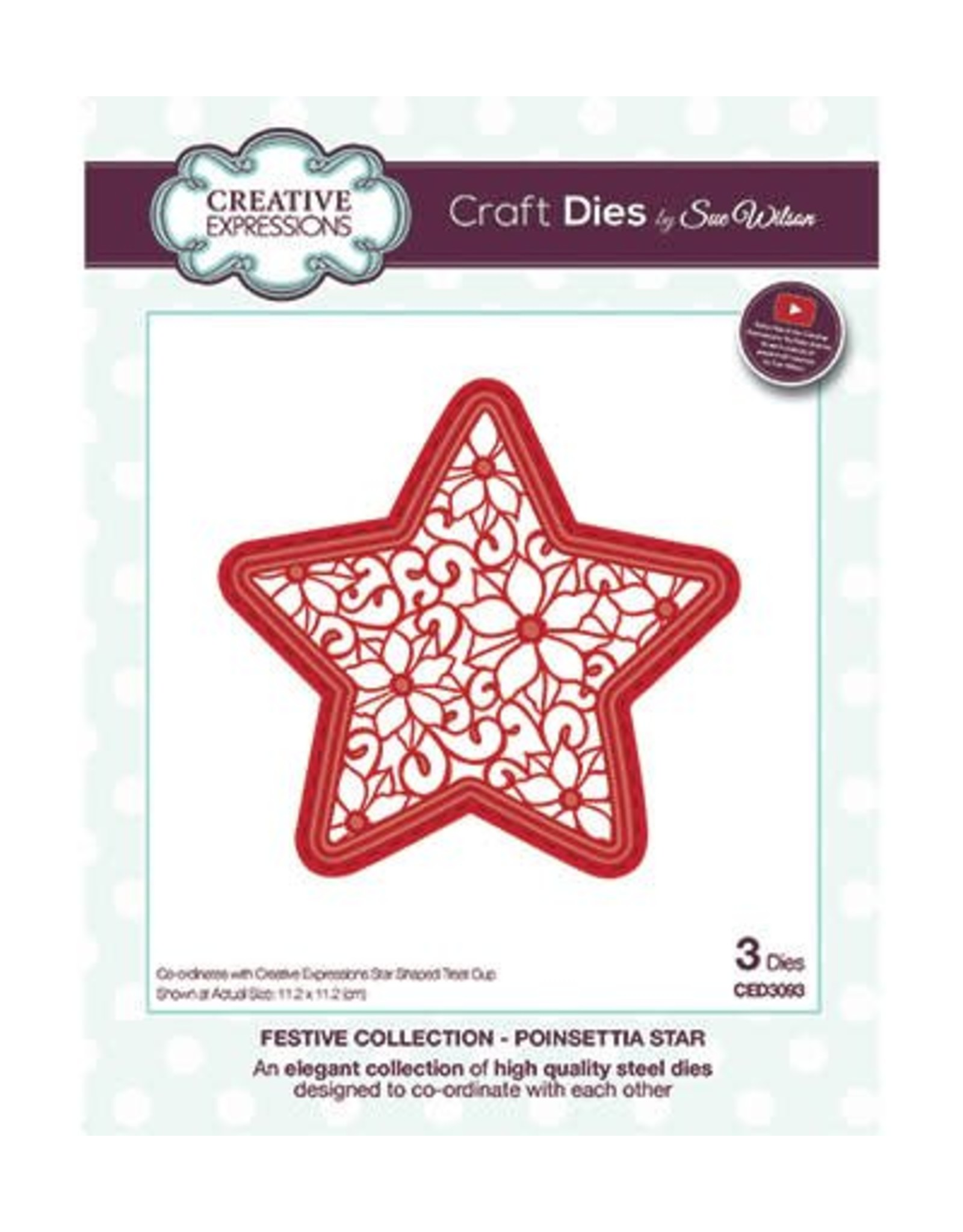 Creative Expressions Creative Expressions Festive Collection  Poinsettia Star CED3093