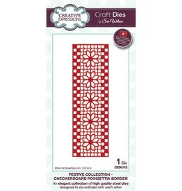 Creative Expressions Creative Expressions Festive collection Checkerboard Poinsettia Border CED3112