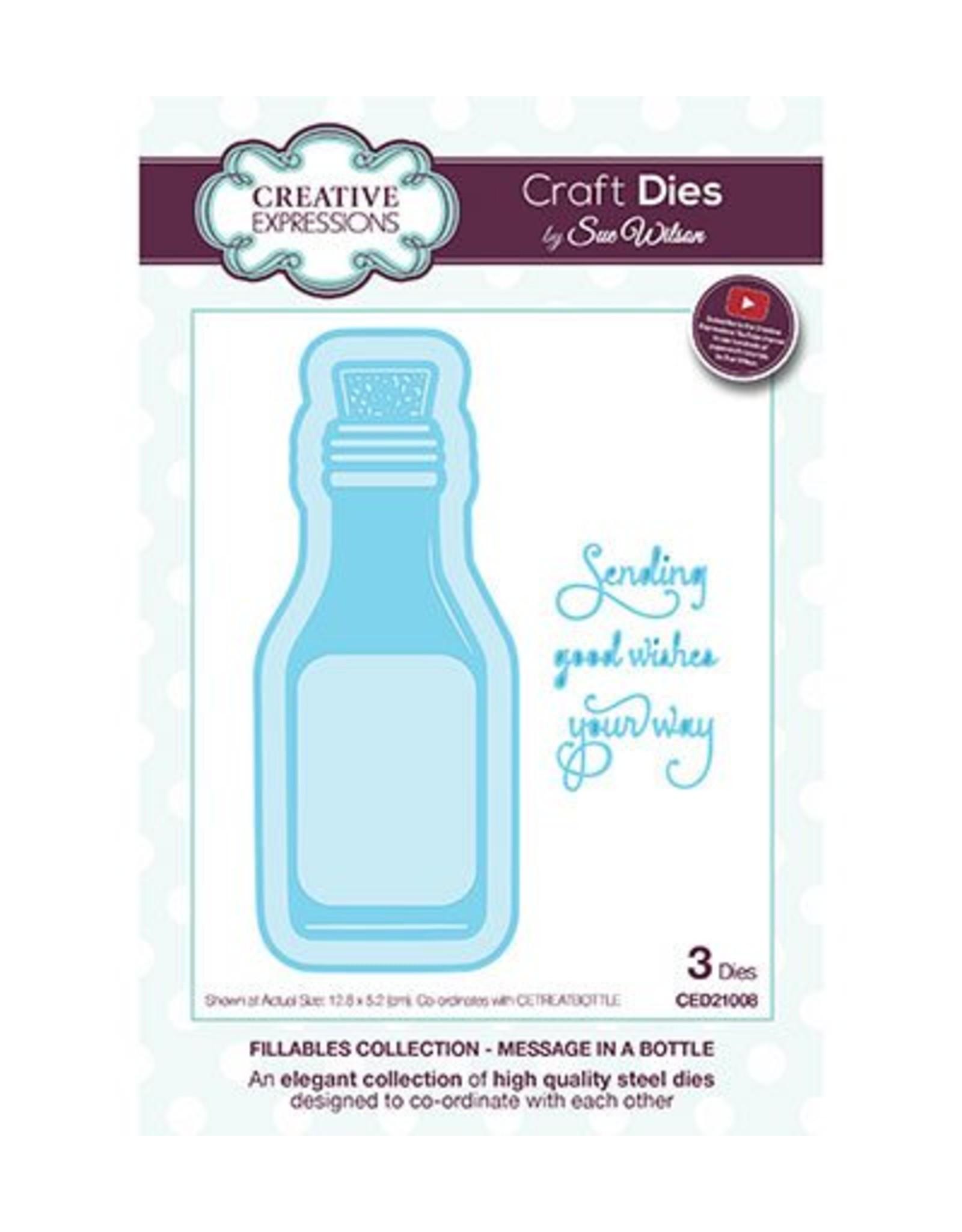 Creative Expressions Creative Expressions crafts dies Message in a Bottle CED21008