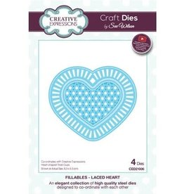 Creative Expressions Creative expressions craft dies Laced Heart CED21006
