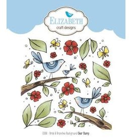 Elizabeth Craft Designs Elizabeth Craft Designs stamps Birds & branches background CS088