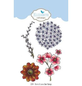 Elizabeth Craft Designs Elizabeth Craft Designs Blooms & Leaves clearstamps CS044