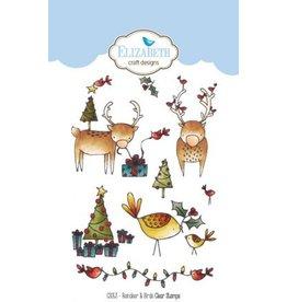 Elizabeth Crafts Design reindeer & birds clearstamps CS053