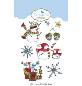 Elizabeth Craft Designs Elizabeth Craft Designs Snowman & gifts clearstamps CS052