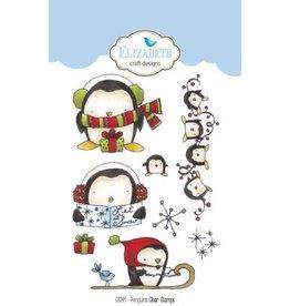 Elizabeth Crafts Design Penguins clear stamps CS049