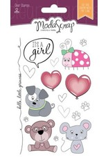 Elizabeth Craft Designs Elizabeth Craft Designs Color of Puppies girl Clear stamps CS063