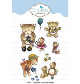 Elizabeth Craft Designs Elizabeth Craft Designs Teddy bear Picnic stamps CS033