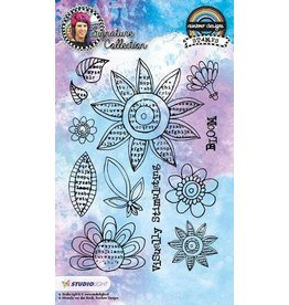 Studio Light Clear Stamp Studio Light Stamp A6 Mixed Media Rainbow Designs nr 12 STAMPMB12