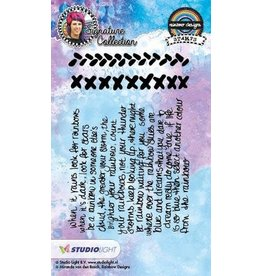 Studio Light Clear Stamp. Studio Light Stamp A6 Mixed Media Rainbow Designs nr 16 STAMPMB16